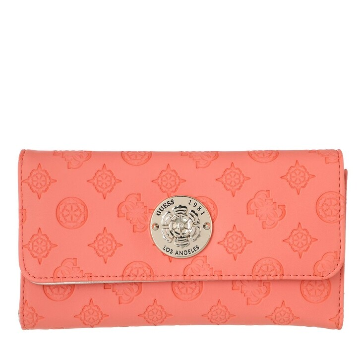 Geldbörse, Guess, Dayane Pocket Trifold Wallet Coral