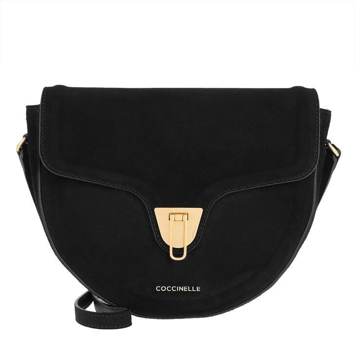 bags, Coccinelle, Beat Suede Crossbody Bag Noir