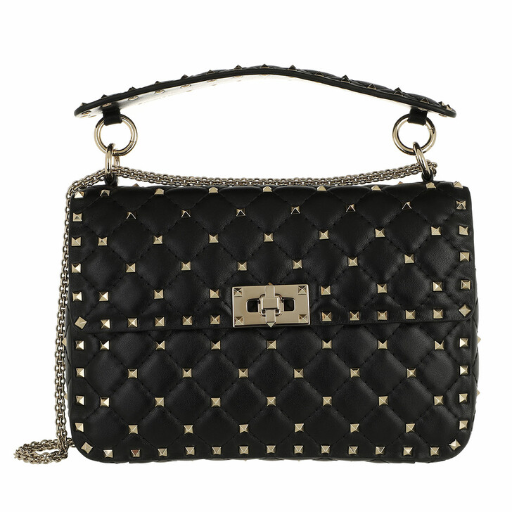 bags, Valentino Garavani, Rockstud Spike Crossbody Bag Black
