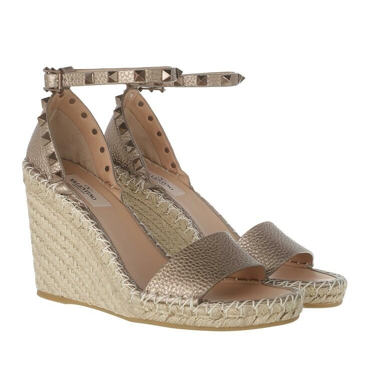 Schuh, Valentino, Rockstud Espadrilles Skin Naturale