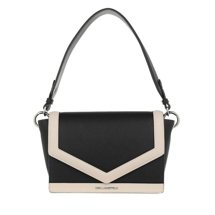Handtasche, Karl Lagerfeld, Mau Shoulder Bag Black