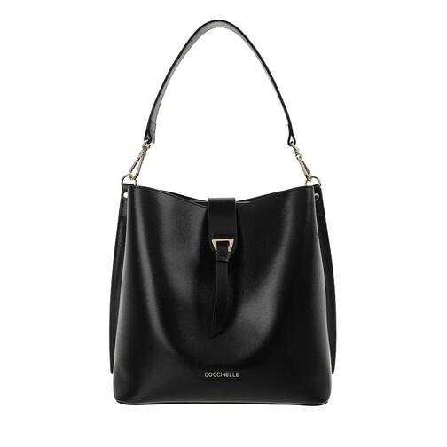 coccinelle -  Beuteltasche - Alba Textured Bucket Bag - in schwarz - für Damen