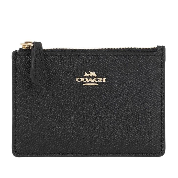wallets, Coach, Crossgrain Mini Id Skinny Li/Black