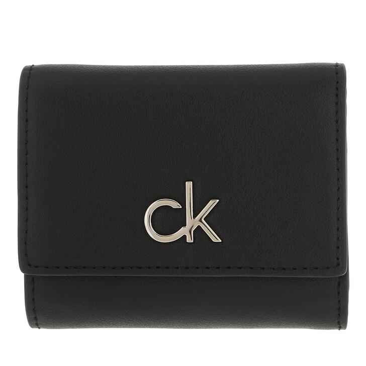 wallets, Calvin Klein, Re-Lock Trifold XS CK Black