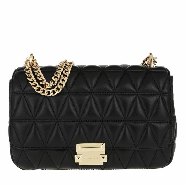 bags, MICHAEL Michael Kors, Sloan LG Chain Shoulder Bag Black