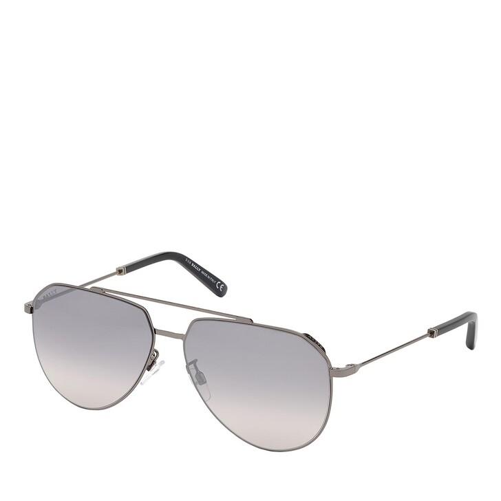 sunglasses, Bally, BY0007-H Shiny Gunmetal /Smoke Mirror
