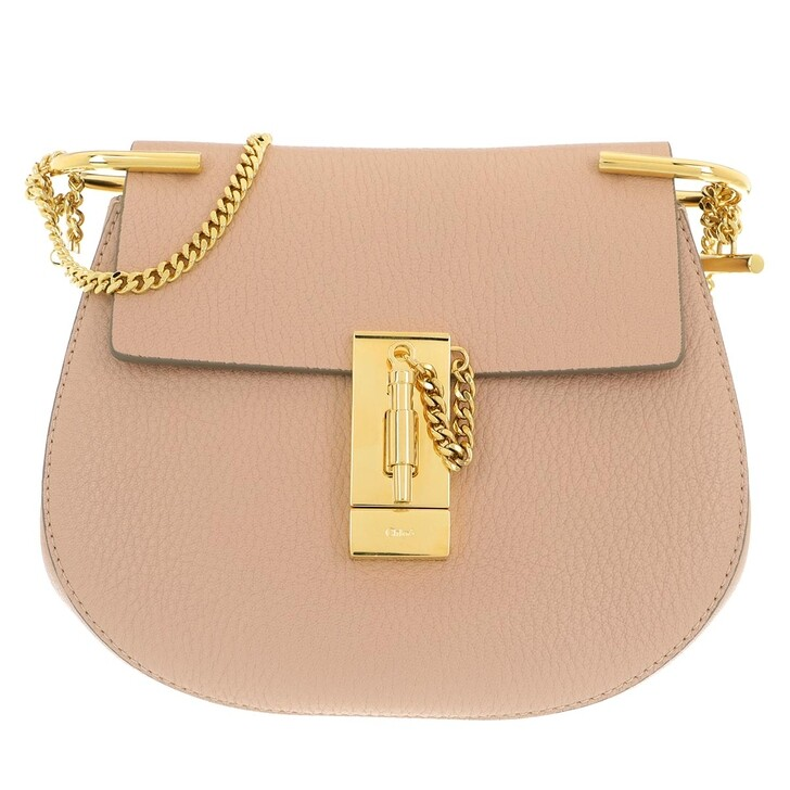 Handtasche, Chloé, Drew Mini Saddle Bag Cement Pink