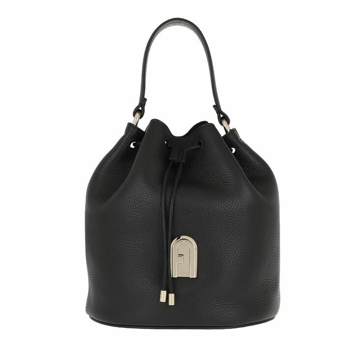 Handtasche, Furla, Sleek Small Drawstring Nero