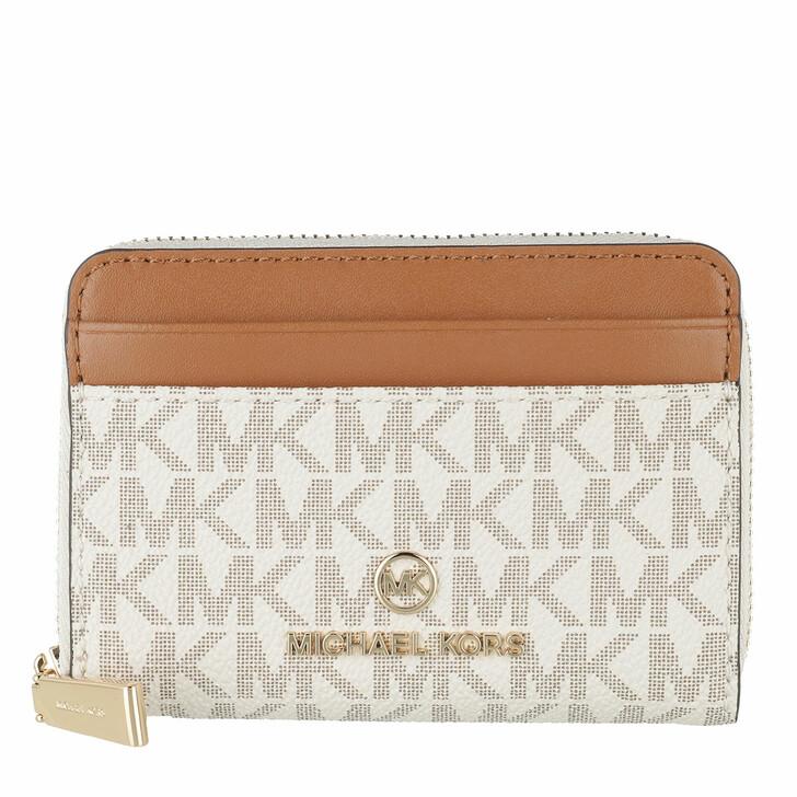 wallets, MICHAEL Michael Kors, Small Za Coin Card  Vanilla/Acrn
