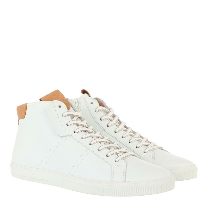 shoes, Kennel & Schmenger, Base High-Top Sneaker Leather Bianco