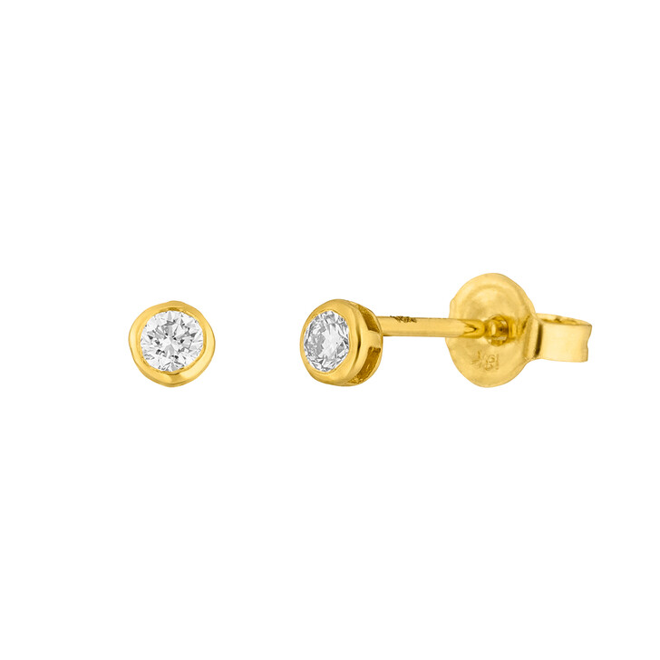 Ohrring, Leaf, Earring My First Diamond 18K Gold