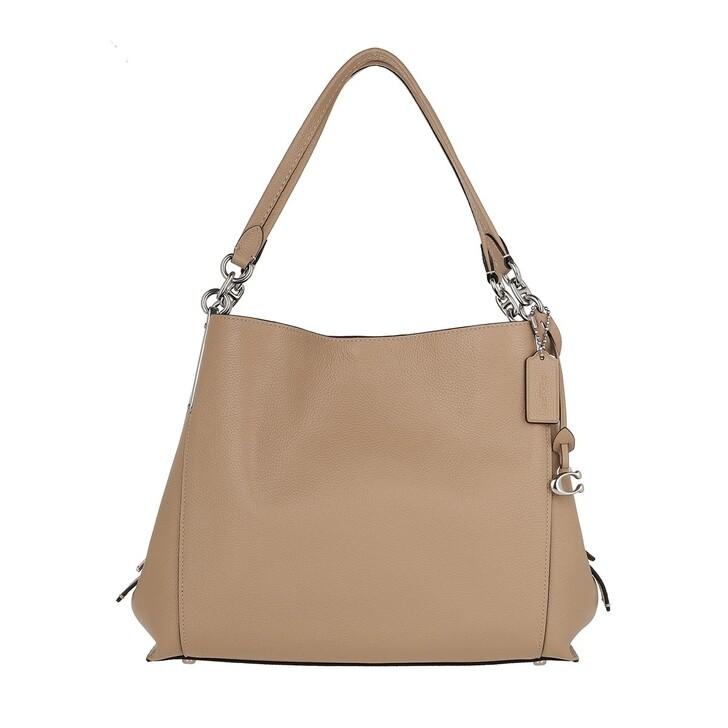 Handtasche, Coach, Polished Pebble Lthr Dalton 31 Shoulder Bag Lh/Taupe