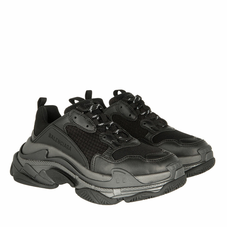 Schuh, Balenciaga, Triple S Sneakers Metallic Effect Black/Dark Grey