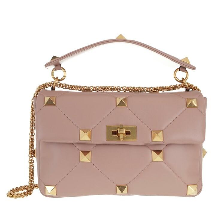 Handtasche, Valentino Garavani, Shoulder Bag Leather Rose Cannelle