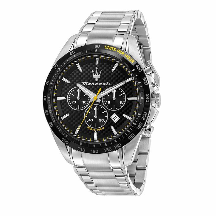 watches, Maserati, Watch Traguardo 45mm Chr Black and Silver