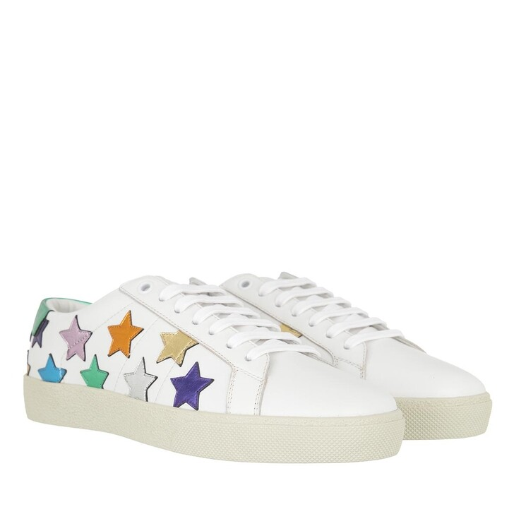 Schuh, Saint Laurent, Star Sneakers Leather White/Multi