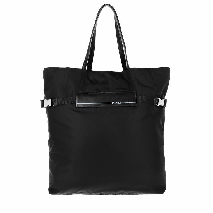 Handtasche, Prada, Logo Tote Bag Nylon Black