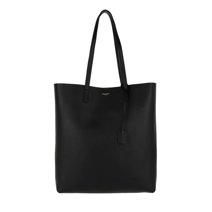 bags, Saint Laurent, North South Tote Leather Black