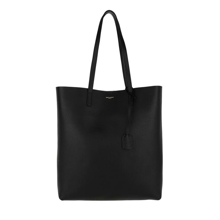 Handtasche, Saint Laurent, North South Tote Leather Black