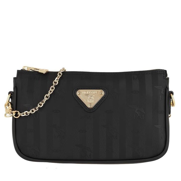bags, Maison Mollerus, Zell Crossbody Bag Black Gold