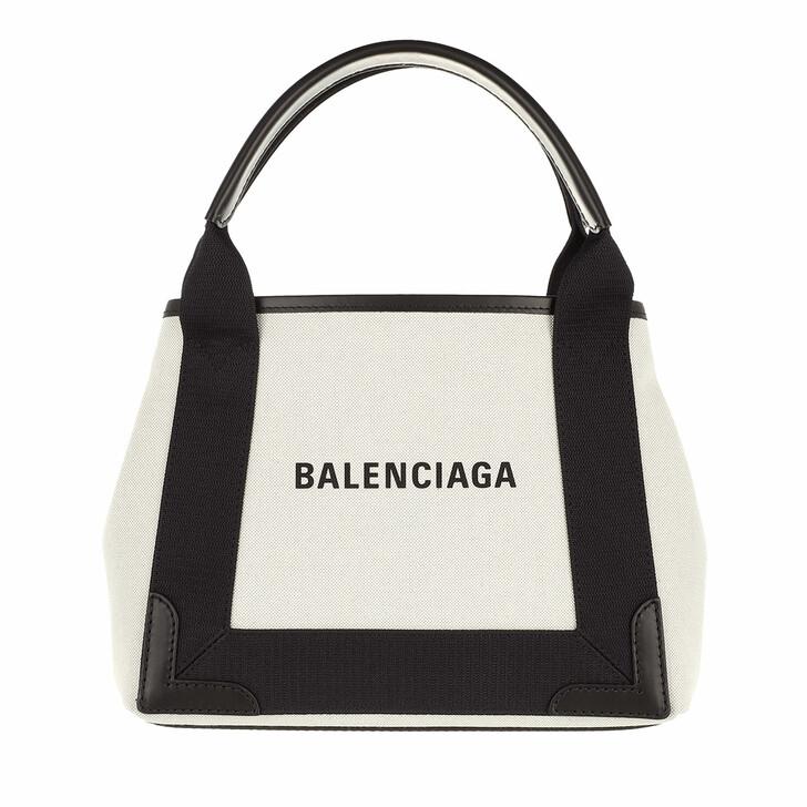bags, Balenciaga, Borsa Navy Cabas XS AJ Polyamide Beige Black