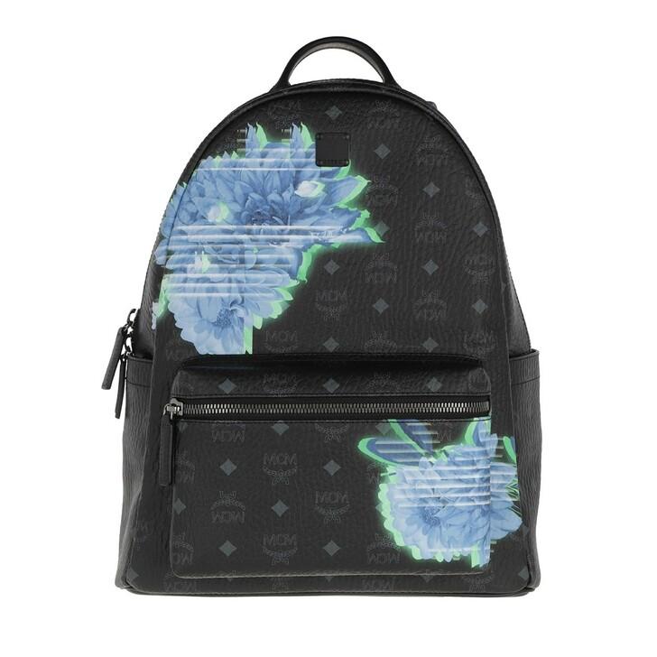 Handtasche, MCM, Stark Tech Flower Backpack Black