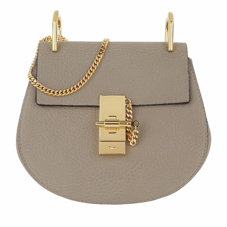 Handtasche, Chloé, Drew Porte Epaule Mini Motty Grey