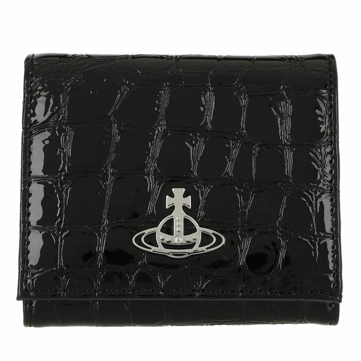 Geldbörse, Vivienne Westwood, Archive Orb  Flap Coin Wallet Black/Silver