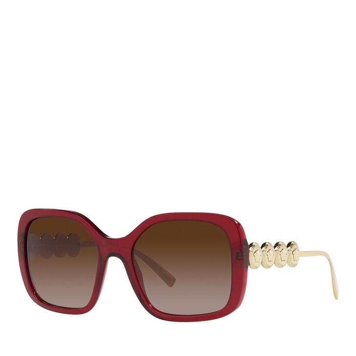 sunglasses, Versace, 0VE4375 TRANSPARENT RED