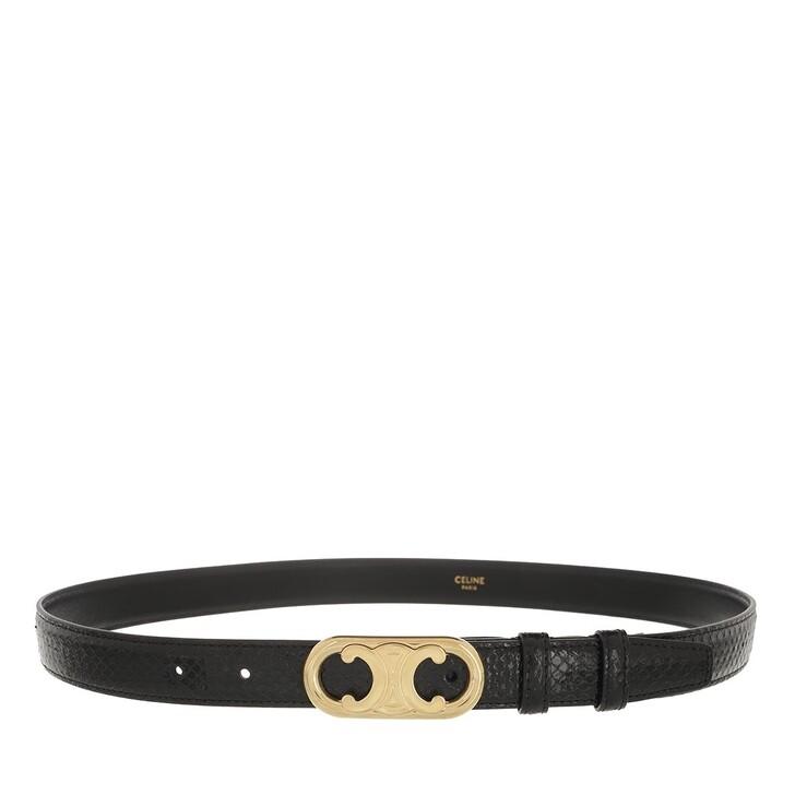 Gürtel, Celine, Maillon Triomphe Belt Python Leather Black