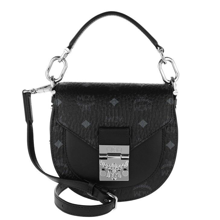 Handtasche, MCM, Patricia Visetos Shoulder Bag Mini Black