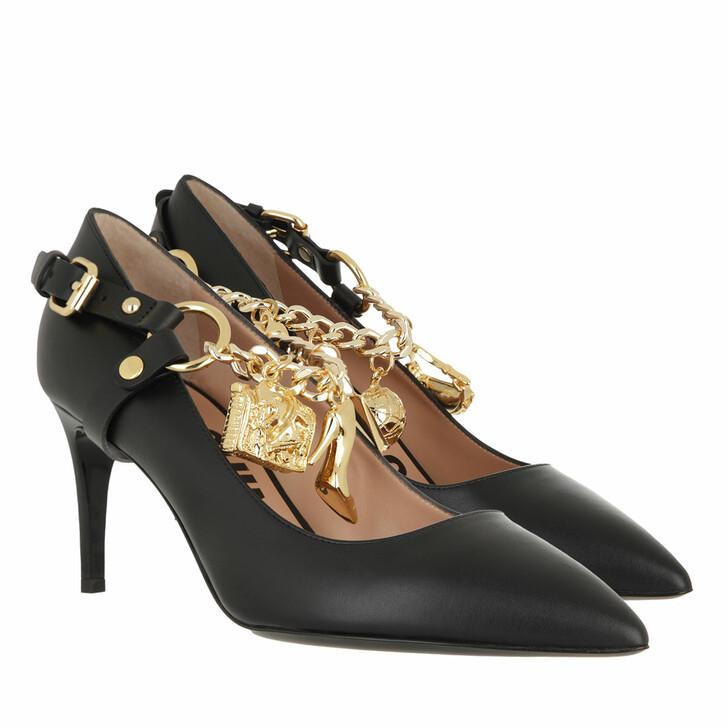 shoes, Moschino, Scarpad.Re Mh64/75 Vitello Nero