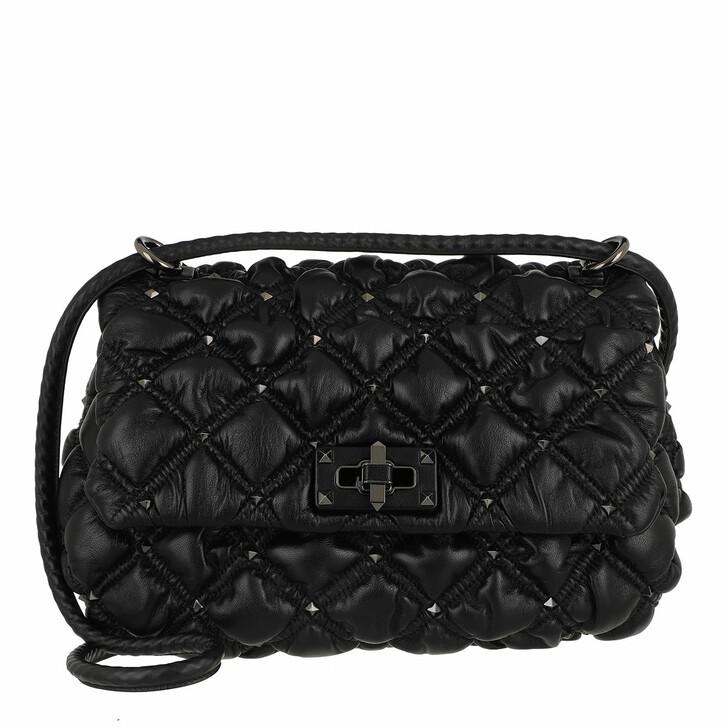 Handtasche, Valentino Garavani, Rockstud Spikeme Crossbody Bag Leather Black