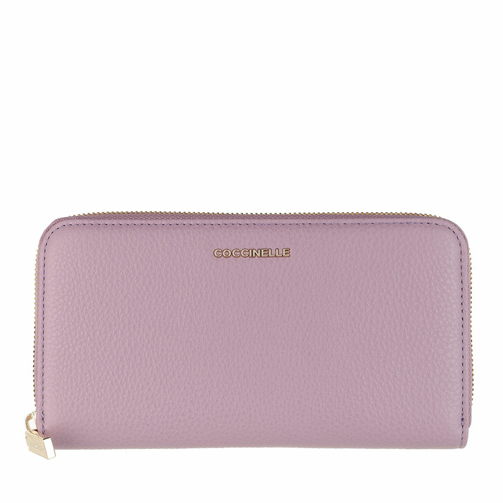 Geldbörse, Coccinelle, Wallet Grainy Leather Mauve