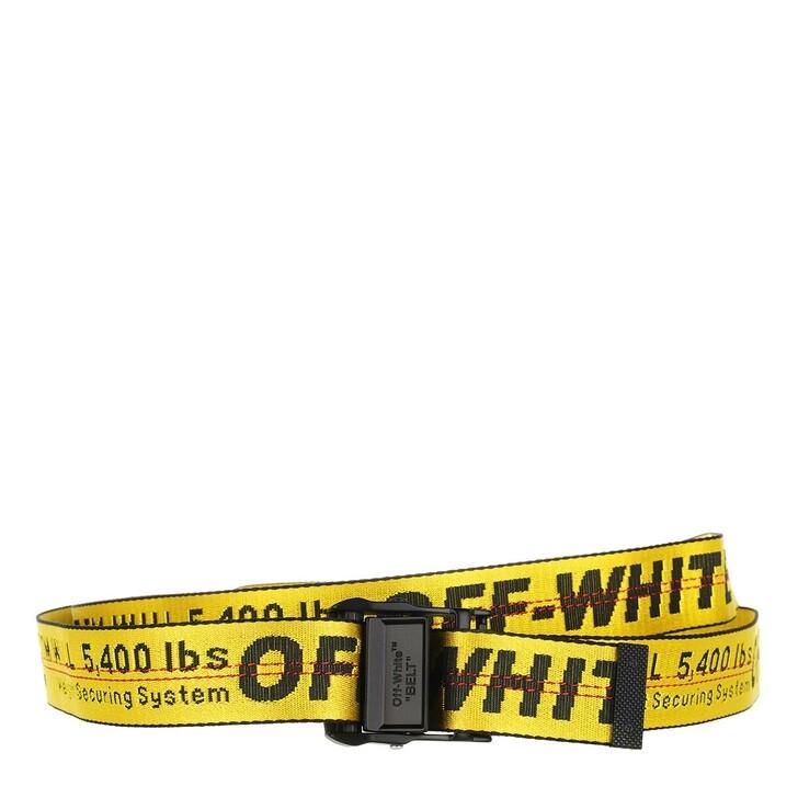 belts, Off-White, Mini Industrial Belt 25 Yellow Black