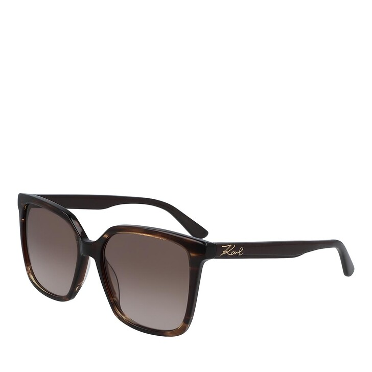 Sonnenbrille, Karl Lagerfeld, KL6014S STRIPED BROWN