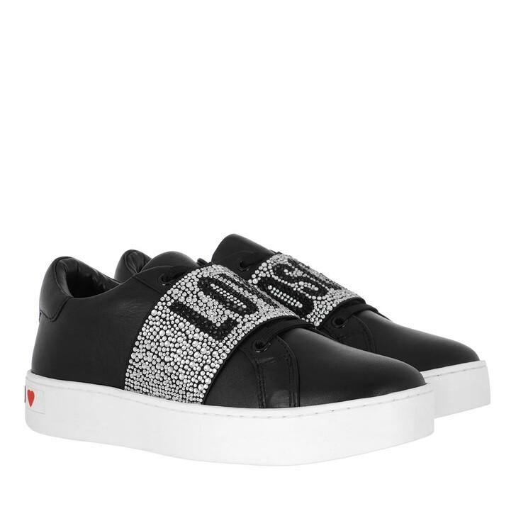shoes, Love Moschino, Sneakerd Cassetta35 Vitello  Nero