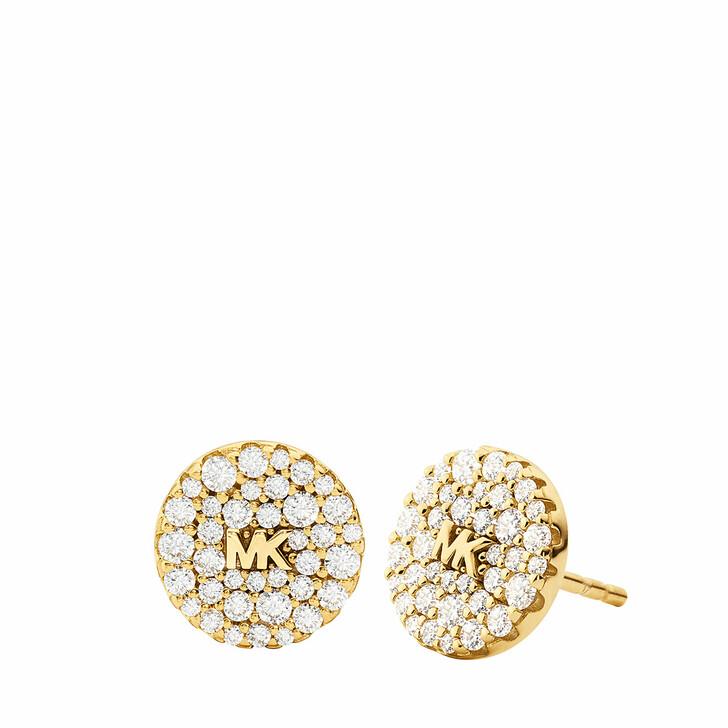 earrings, Michael Kors, Women's Sterling Silver Stud Earring MKC1496AN710 Gold