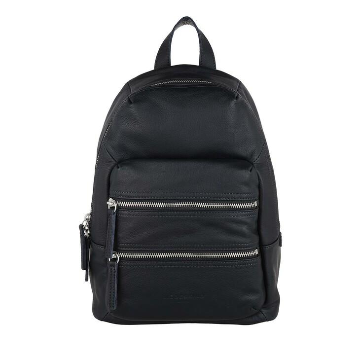 Reisetasche, Liebeskind Berlin, Saku Medium Backpack Navy Blue