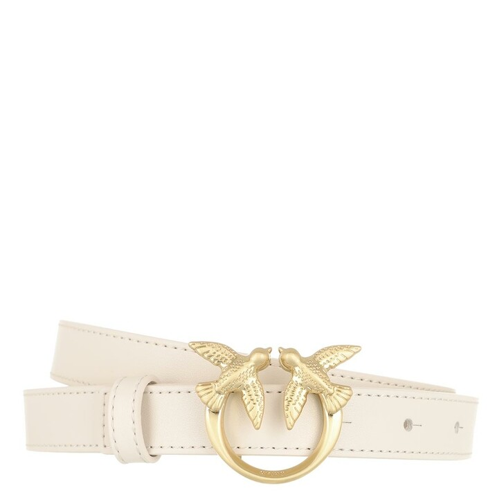 Gürtel, Pinko, Love Berry Small Simply Belt Winter White