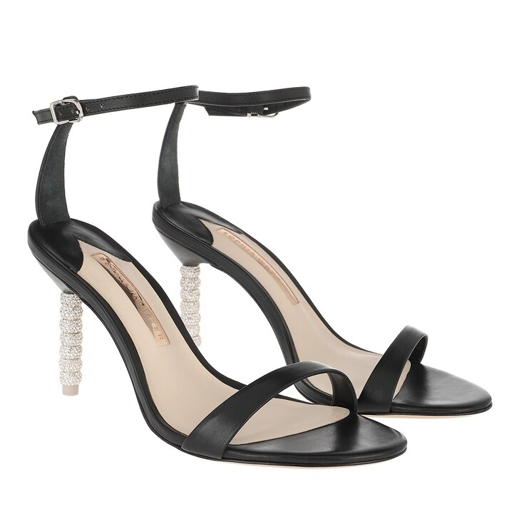 Schuh, Sophia Webster, Haley Crystal Mid Sandal Black