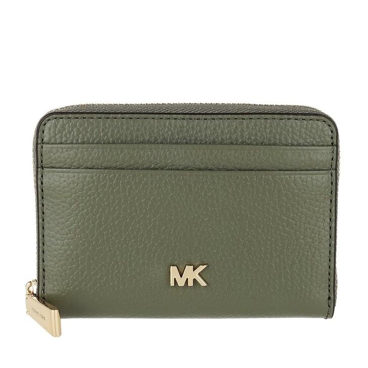 Geldbörse, MICHAEL Michael Kors, Zip Around Coin Card Case Army Green