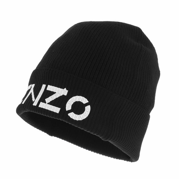 hats, Kenzo, Beanie Black