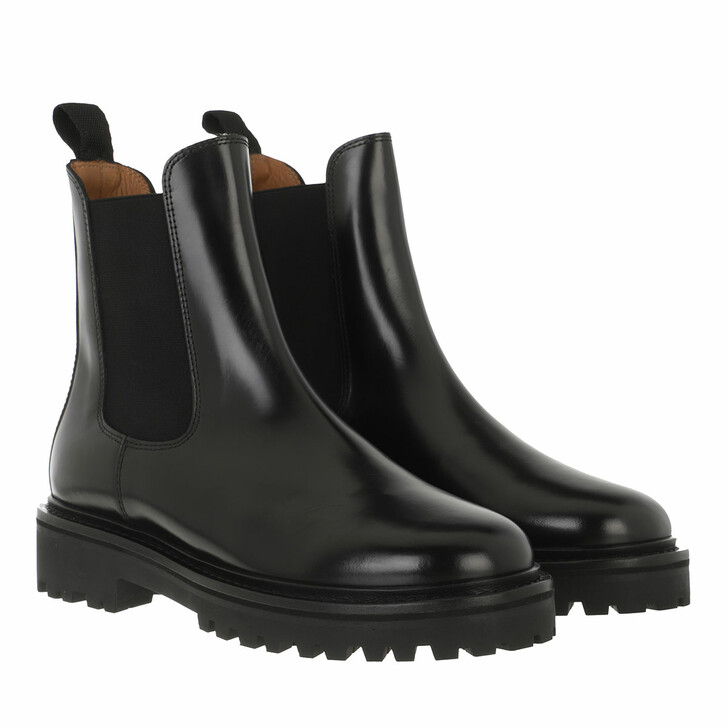 shoes, Isabel Marant, Castay Boots Leather Black