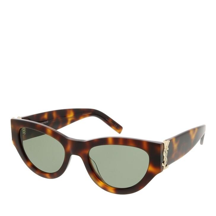 sunglasses, Saint Laurent, SL M94-003 53 Sunglass Woman Acetate Havana-Havana-Green