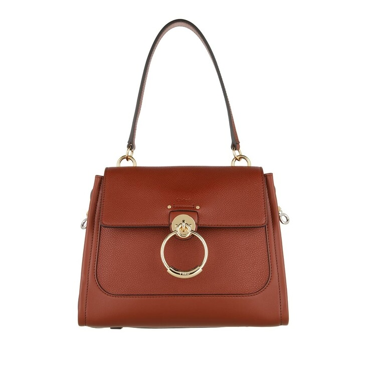 bags, Chloé, Tess Day Small Crossbody Bag Leather Sepia Brown