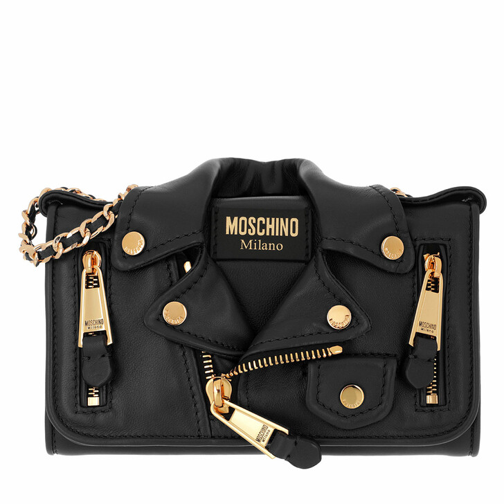 bags, Moschino, Portafoglio Fantasia Nero