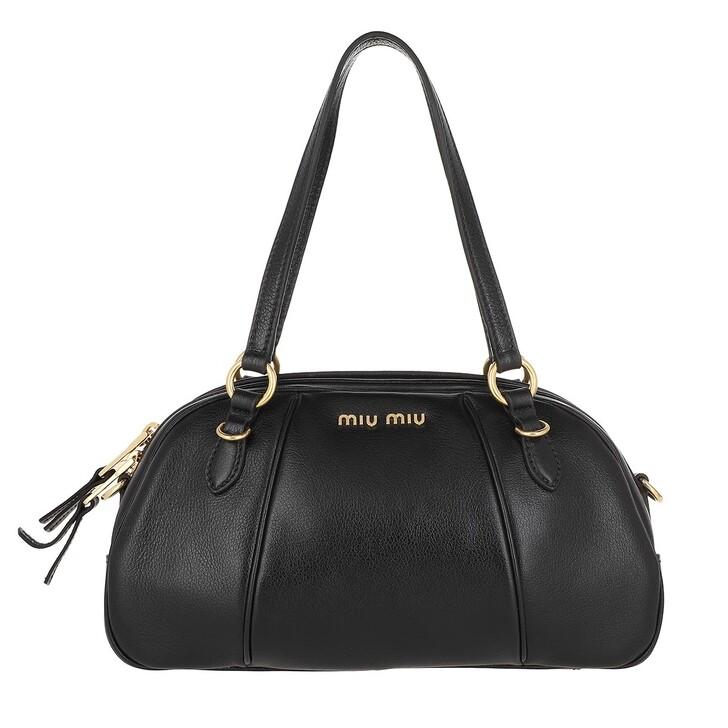 Handtasche, Miu Miu, Bowling Bag Leather Nero
