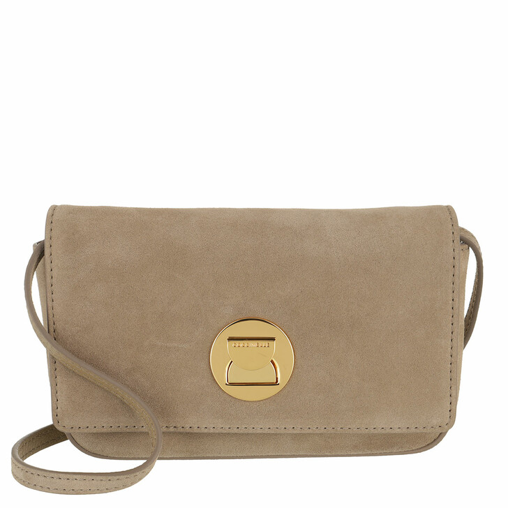 bags, Coccinelle, Mini Bag Suede Leather New Taupe
