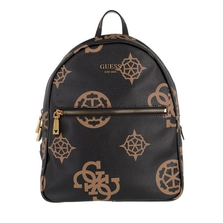 bags, Guess, Vikky Backpack Mocha Logo